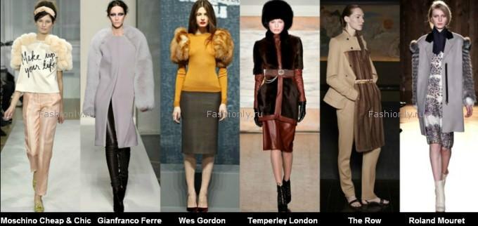 Меховая мода осень зима 2012 2013