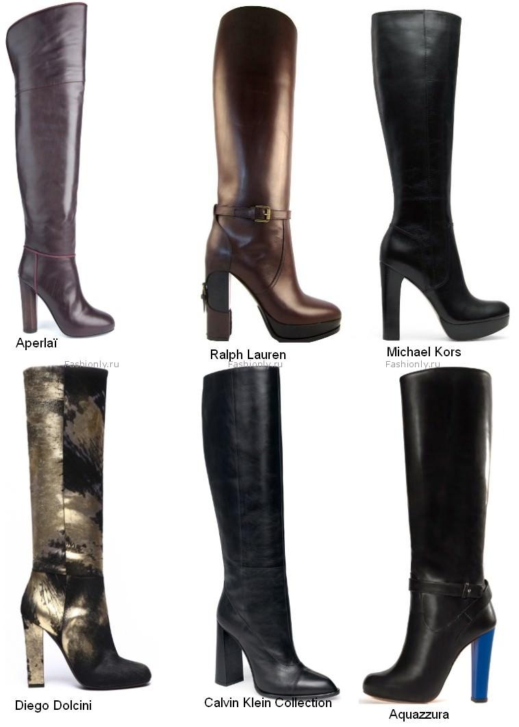 Модные сапоги зима 2012 новые фото