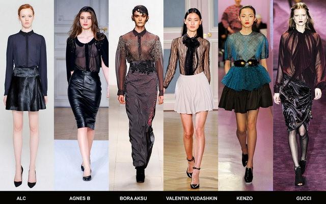 Модные блузки осени 2012 (7)