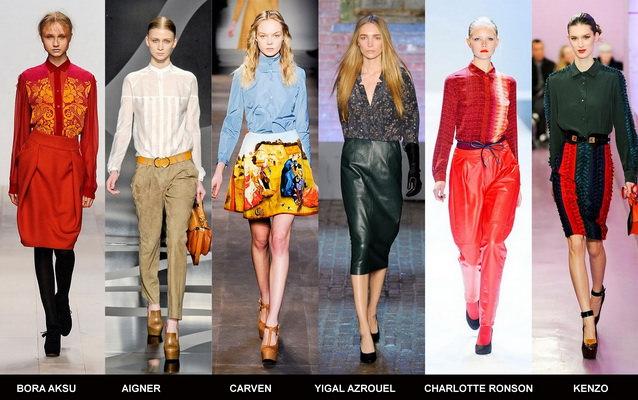 Модные блузки осени 2012 (5)