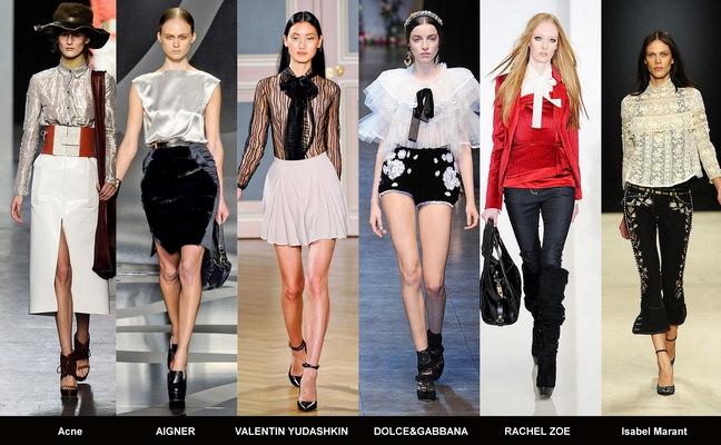 Модные блузки осени 2012 (2)