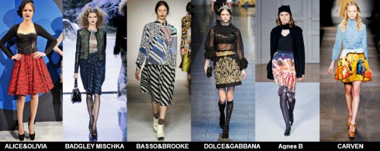 Модные юбки 2012 осень фото (8)