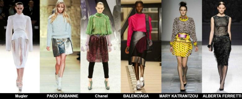 Модные юбки 2012 осень фото (10)