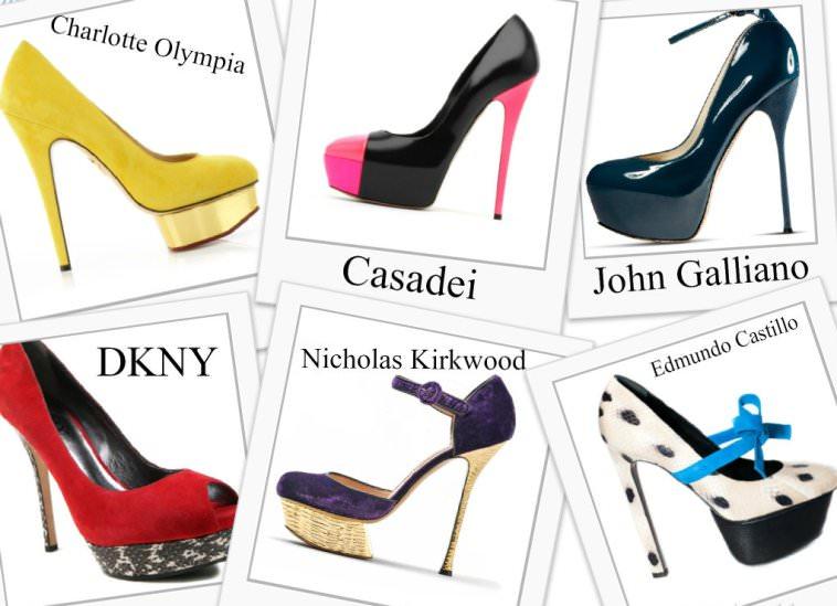 Модные туфли на каблуке и шпильке осень 2012