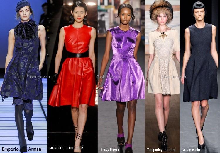 Платья на осень 2012 - 10 модных фасонов.  Самые красивые стильные и...