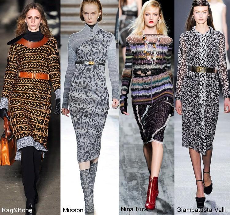 Вязаные платья зимы 2012 года