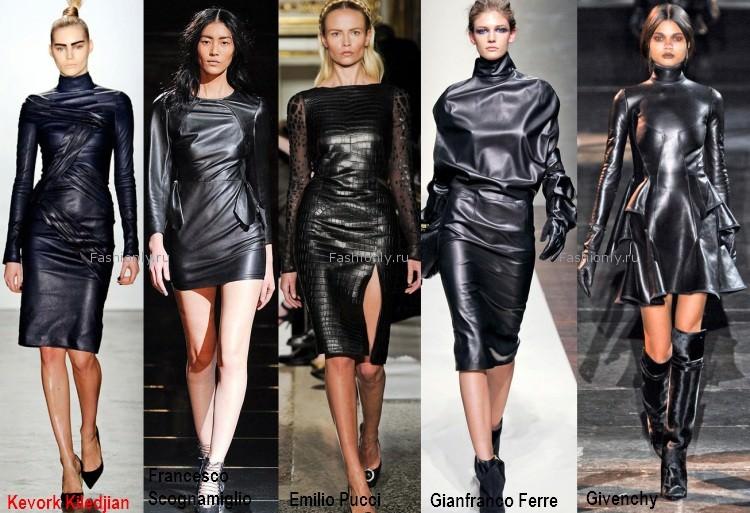 Кожане платья 2012 2013