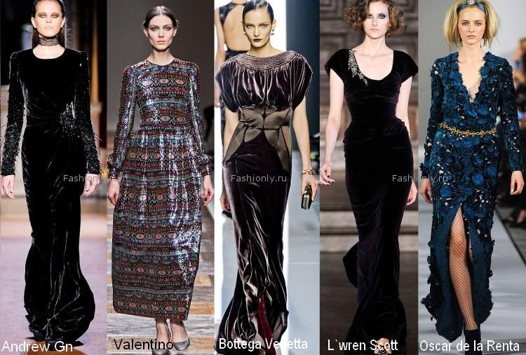 Вечерние платья из бархата 2012 2013