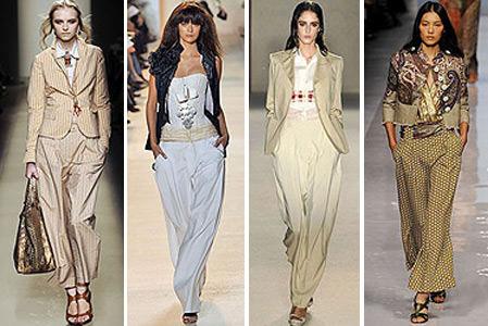 Модные тенденции — 2013 2014: летние женские брюки Image