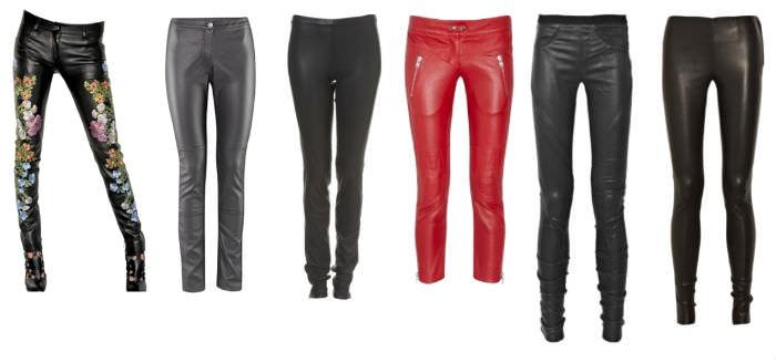 Кожаные брюки: как носить?