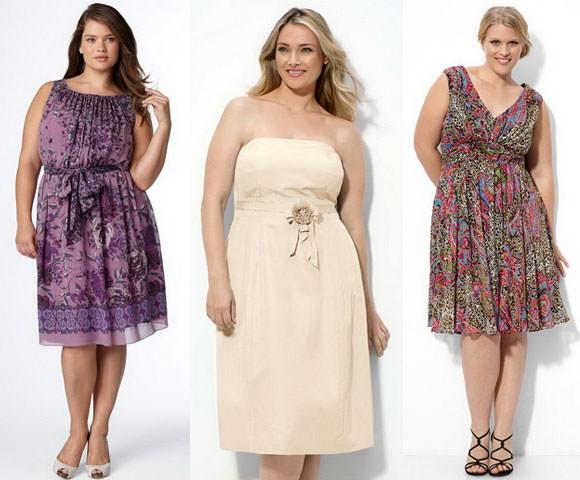 Выбор платья для полной женщины