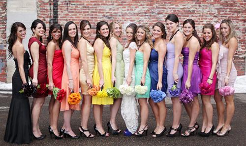 Модные платья для подружек невесты Image