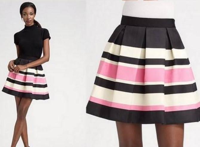 Как сшить модную юбку видео