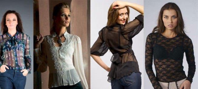 Прозрачные блузки: как носить? Image