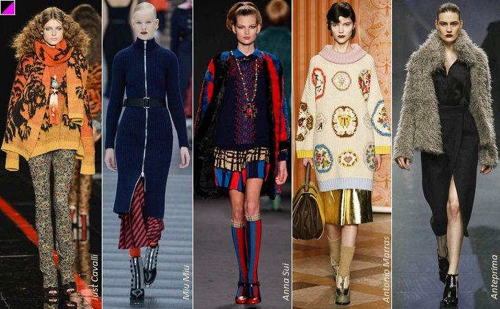Модный верхний трикотаж и кожа осенью 2013