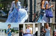 «Вlue dress»— европейский стрит-стайл заявил об активном тренде этого лета