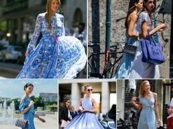 голубые платья - тренд сезона 2015