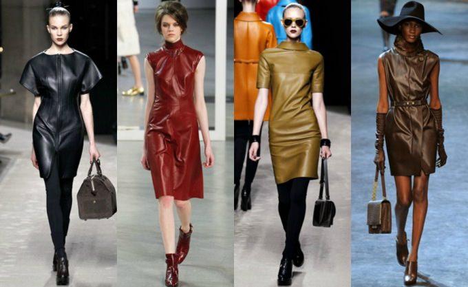 С чем носить кожаное платье? Image