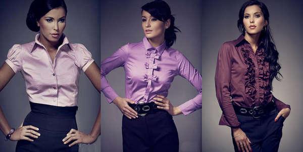 Мода 2013 Стильные женские рубашки Image