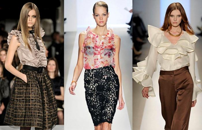 Модные тенденции 2013: женские блузки и рубашки