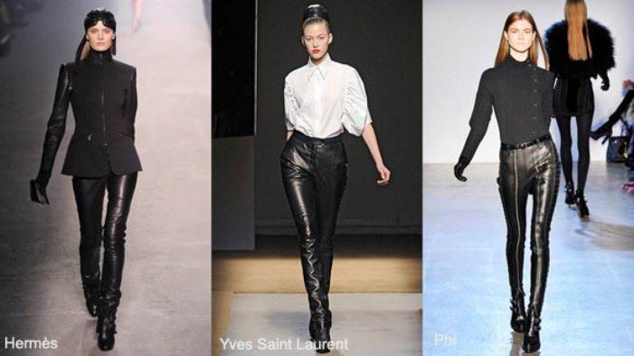 Кожаные брюки: как носить? Image