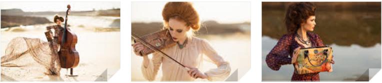 модель играет на скрипке