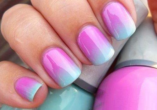 бюрюзово розовые ногти