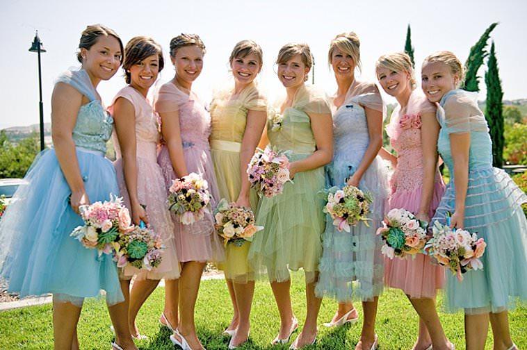 Какие платья должны быть у подружек невесты