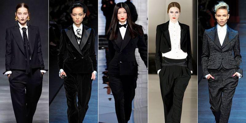 С чем лучше всего носить женский смокинг? Image