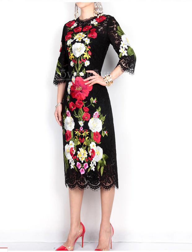 платье с китайской вышевкой