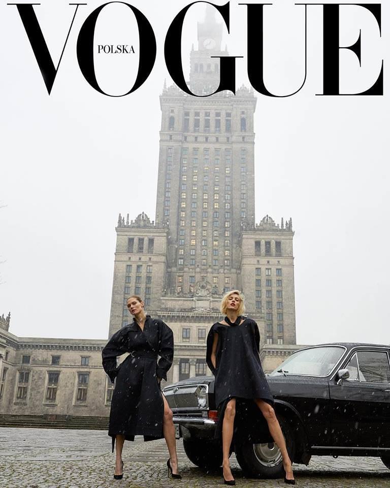 Обложка польского журнала Vogue 2018 год.
