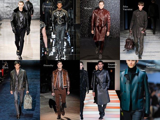 Мужская мода 2013: Кожа