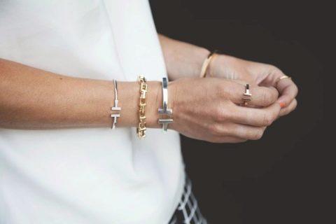 Жёсткие браслеты с благородными камнями