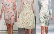 Дизайнерские цветочные платья весна-лето 2015— новинки подиума