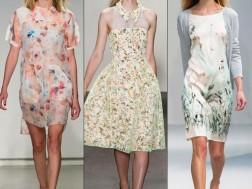 Дизайнерские цветочные платья весна-лето 2015 - новинки подиума