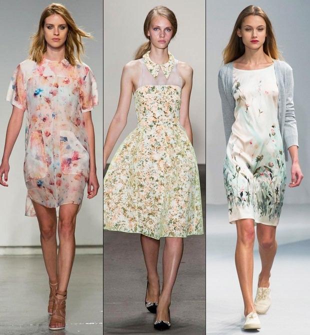 Дизайнерские цветочные платья весна-лето 2015 — новинки подиума Image